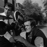 Bernardo Bertolucci dietro la macchina da presa con Vittorio Storaro sul set de Il conformista (1970)