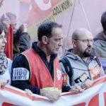 Manifestazioni sindacali durante In guerra di Stéphane Brizé (En guerre, Francia 2018)