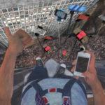 """Una """"vertiginosa"""" immagine dal cortometraggio Selfies dello svizzro Claudius Gentinetta"""