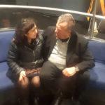 Eckhart Schmidt con la nostra redattrice Michela Aloisi, coautrice dell'intervista