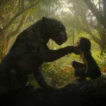 La pantera Bagheera e il giovane protagonista in un momento di Mowgli - Il figlio della giugla di Andy Serkis (UK, USA 2018)