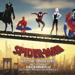 Un manifesto promozionale di Spider-Man - Un nuovo universo di Bob Persichetti, Peter Ramsey e Rodney Rothman (Spider-Man: Into the Spider-Verse, USA, 2018)