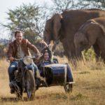 Papà Langley Kirkwood e figlia Daniah De Villiers si divertono in Mia e il leone bianco di Gilles de Maistre (Mia et le lion blanc, Francia, Germania, Sudafrica 2018)