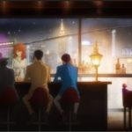 """Un'immagine tipicamente """"noir"""" tratta da Lupin III - Ritorno alle origini serie tv creata da Monkey Punch (Giappone, 2018)"""