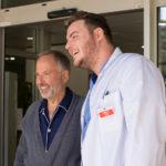 Fabrice Luchini con Igor Gatesman idurante Parlami di te di Hervé Mimran, Un homme pressé (Francia, 2018)