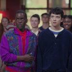 Ncuti Gatwa e Asa Butterfield in un momento di Sex Education, serie tv creata da Laurie Nunn (UK, USA 2019)