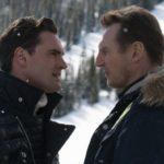 Tom Bateman e Liam Neeson si fronteggiano durante Un uomo tranquillo di Hans Petter Moland (Cold Pursuit, USA, Canada, UK, Norvegia 2019)