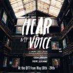 Un manifesto promozionale del corto documentario Hear My Voice di Brendan J. Byrne (UK, 2018)
