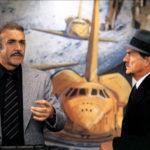 Sean Connery e Karl Malden in un momento di Meteor di Ronald Neame (USA, Hong Kong 1979)
