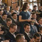 "Felicity Jones in una Harvard ""maschile"" durante Una giusta causa di Mimi Leder (On the Basis of Sex, USA 2018)"