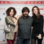 Cosimo Alemà tra le attrici Irene Ferri e Pilar Fogliati