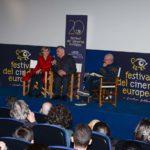 Un'immagine dalla masterclass tenuta da Aleksandr Sokurov al Festival del Cinema Europeo di Lecce 2019