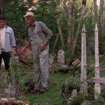 Blaze Berdhal, Dale Midkiff e Fred Gwynne in un momento di Pet Sematary - Cimitero vivente di Mary Lambert (USA, 1989)