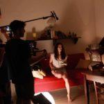 Un'immagine dal set del cortometraggio Mi chiamo Leda di Stefano Reali (Italia, 2018)