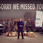 Kris Hatchen in un'immagine promozionale da Sorry We Missed You di Ken Loach (UK, Francia, Belgio 2019)