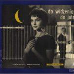Un manifesto promozionale originale di Arrivederci domani di Janusz Morgenstern (Do widzenia, do jutra...,, Polonia 1960)