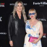 Tiziana Rocca con Patricia Arquette durante la seconda edizione del Filming Italy Sardegna Festival