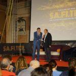 Un'altra immagine di Bonivento sul palco della 17esima edizione del Sa.Fi.Ter.