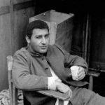 Alberto Sordi in un momento di relax sul set de La grande guerra di Mario Monicelli (Italia, Francia 1959)
