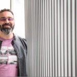 Un sorridente Massimilano Bruno, ospite alla diciassettesima edizione del Sa.Fi.Ter. Film Festival Internazionale