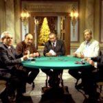 Al tavolo da poker il cast di Regalo di Natale di Pupi Avati (Italia, 1986)