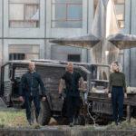 Statham, Johnson e la fulgida Vanessa Kirby in un momento di Fast & Furious: Hobbs & Shaw di David Leitch (Fast & Furious Presents: Hobbs & Shaw, USA, UK 2019)