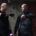 Un'altra immagine di Dwayne Johnson e Jason Statham durante Fast & Furious: Hobbs & Shaw di David Leitch (Fast & Furious Presents: Hobbs & Shaw, USA, UK 2019)