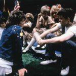 John Hughes a colloquio con Matthew Broderick sul set di Una pazza giornata di vacanza (Ferris Bueller's Day Off, USA 1986)