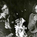 Ancora Fonda e Hopper sul set di Easy Rider di Dennis Hopper (USA, 1969)