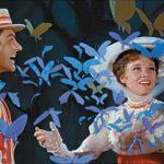 Dick Van Dyke e Julie Andrews in un momento di Mary Poppins di Robert Stevenson (USA, 1964)