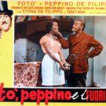 Un manifesto promozionale della commedia Totò, Peppino e i fuorilegge di Camillo Mastrocinque (Italia, 1956)