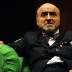 Ivano Marescotti su un palco teatrale in una recente immagine