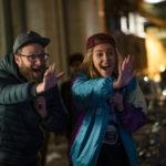 Seth Rogen e Charlize Theron scatenati in un momento di Non succede, ma se succede... di Jonathan Levine (Long Shot, USA 2019)
