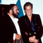 Luciano Pavarotti e Lady Diana in un momento del documentario Pavarotti di Ron Howard (USA, UK 2019)