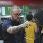 Il regista John Swab sul set di Run with the Hunted (USA, 2019)