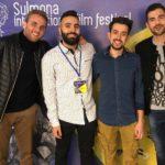 Cast e troupe del corto 88 di Danilo Corbellini Scarcia (Italia, 2019) al Sulmona International Film Fest 2019
