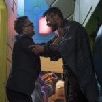 Mark Ruffalo e Chris Hemsworth in un'altra immagine tratta da Thor: Ragnarok di Taika Waititi (USA, 2017)