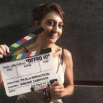 Paola Minaccioni, regista ed interprete del corto Offro io (Italia, 2019)