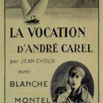 La locandina originale de La vocation d'André Carel di Jean Choux (Svizzera, 1925)