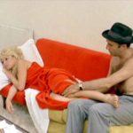Brigitte Bardot e Michel Piccoli in un momento de Il disprezzo di Jean-Luc Godard (Le mépris, Francia, Italia 1963)
