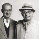 A sinistra lo sceneggiatore L.A.L Diamond in un'immagine con Billy Wilder
