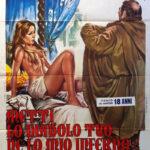 La locandina originale di Metti lo diavolo tuo ne lo mio inferno di Bitto Albertini (Italia, 1973)